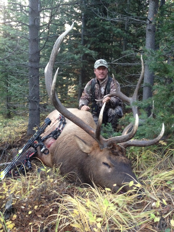 Hunter with large elk